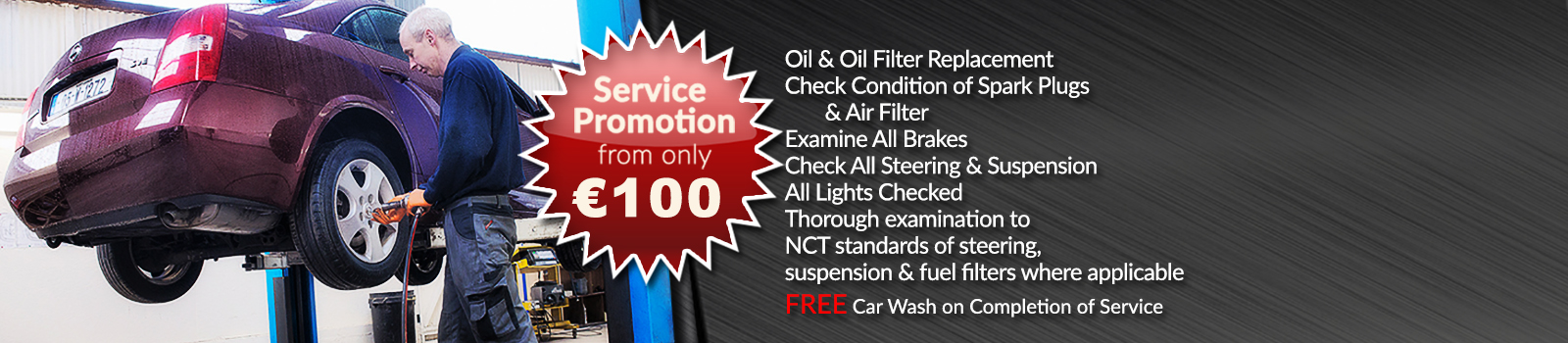 Car Service Promotion Waterford